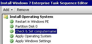 Rename computername during SCCM Tasksequence |