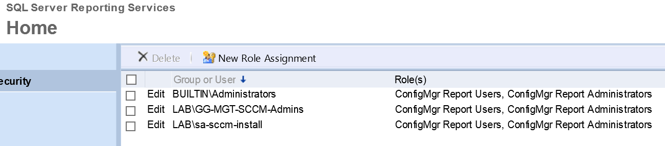 How to set permissions on custom SCCM reports |